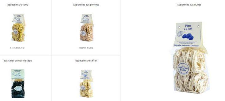 pâtes artisanales de la maison Fabre